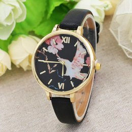$enCountryForm.capitalKeyWord NZ - Flower jewelry thin belt ladies watch large dial watch