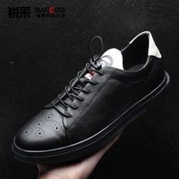 $enCountryForm.capitalKeyWord Australia - Chao Genuine New Leather Dawdler Skate Shoes Fan Enchanting2019 Doodle Motion Leisure Time Thick Bottom All-match Young Students Male Shoe