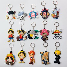 pendants anime one piece Australia - PVC Keychain Cartoon Womans Plant Key Chain Bags Men Pendant Key Ring Unisex Party Holder Anime One Piece Accessories Brelok