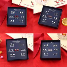 Best Gift For Xmas Australia - Chrismas Style One Week Earrings Set 925 Sterling Silver Stud Earrings For Women Daily Best Xmas Valentine's Day Gift