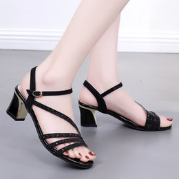 fashion sandals wholesale NZ - YOUYEDIAN shoes woman Fashion Summer sandals Pumps High Heel Sandals Casual Bucket Peep Toe zapatos de mujer#G6