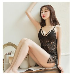 Wholesale 2020 Hot Real Picture Water Soluble Lace Bohemia Hollow Sexy Undergarments Nightdress Sexy Lingerie Sleepwear