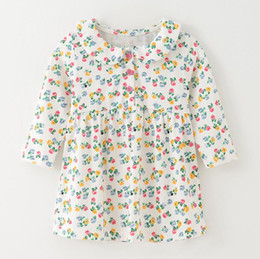 $enCountryForm.capitalKeyWord Australia - Amrican Children Flower Dresses for baby blouse shirt for kids tops dresses for girls pattern toddler costume Mix SIZE 2019 Fall Winter