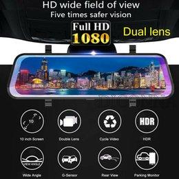 "$enCountryForm.capitalKeyWord Australia - 10"" Car DVR Dual Lens HD 1080P 32G Rear View Mirror Video Recorder Dash Cam 150°"
