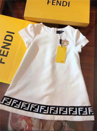 Girls fleece dresses online shopping - Brand designer girls luxury dress fashion F letter sweater shirt skirt suit girl cotton dress shirt