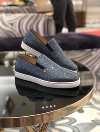 rubber walk NZ - Evening,Party,Dress Oxford Boat Strass White Rubber Sole Sneakers Luxurious Rhinestone Men's Red Bottom Loafers Men Casual Walking