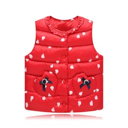 $enCountryForm.capitalKeyWord Australia - New Winter Baby Girls Vest Lace Bow Children Waistcoat Autumn Princess Costume for Kids Clothes Children Outerwear