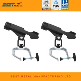 standing pole Australia - 2X Fishing Rod rack Holders clamp on Adjustable Removable 360 degree Kayak Boat Support Pole stand Bracket