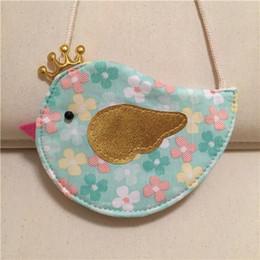 $enCountryForm.capitalKeyWord Australia - 2019 New Korean Style Childrens Best Sale One Shoulder Bags New Arrival Girls Cartoon Bird Floral Cotton Fabric Casual Messenger Bags