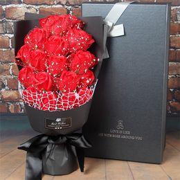 Yapay Sabun Gül Çiçekler hediye kutuları setleri El Yapımı Banyo Gül Çiçek sevgililer Günü doğum günü Düğün Parti Hediye Süslemeleri Y ...