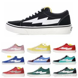 Multi Canvas Shoes Australia - New Revenge x Storm Old Skool Skateboarding Sneakers Trending Casual Trainers for Men Women Durable Canvas Sport Shoes Outdoor