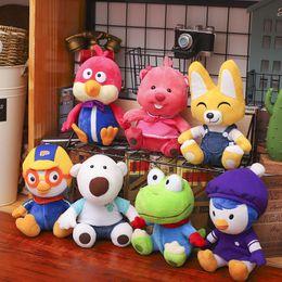 Plush friends online shopping - 23cm Korea Pororo Little Penguin Plush Toys Doll Pororo and His Friends Plush Soft Stuffed Animals Toys Gift for Children Kids toys DHL