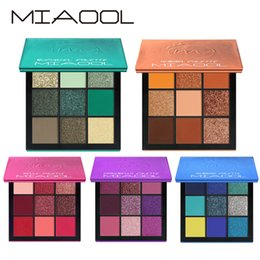 shimmer glitter for eyes UK - MIAOOL Eye shadow Makeup Shimmer Matte Glitter 9 Colors Makeup Luminous Magic Code For Your Eyes