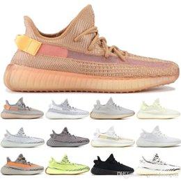Shoe Cream Cheap Australia - New Cheap Designer 3M Static V2 Kanye West Semi Yellow Cream White Zebra Butter Beluga 2.0 Sports Seankers Mens women Running Shoes