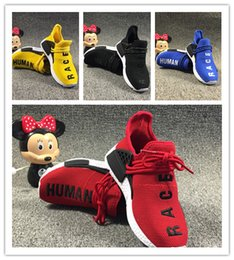02fc7f6bfaf6a 2019 Human Race Runing Shoes kids boys girls Solar Pack Black Yellow  Children Sport Sneakers size28-35