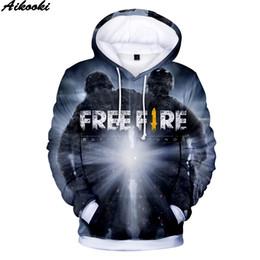Fire clothing online shopping - 3D printed Game FREE FIRE D Hoodies Men Women Harajuku Sweatshirts Fall Winter Hip Hop FREE FIRE Hoodies EU Siz clothing