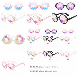 Rainbow fRamed glasses online shopping - Retro Geometric Kaleidoscope Sunglasses Men Women Sunglasses Rainbow Lens Eyewear Festive Party Supplies Fashion Sunglass