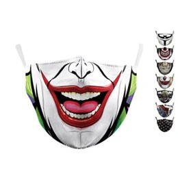 wholesale cotton face mask Australia - Adult face mask flag digital Sports Party Cosplay masks Reusable Dust Warm Windproof Cotton Festive Mask GHN388