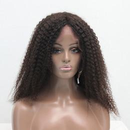 virgin unprocessed afro hair 2019 - Brazilian Curly Human Hair Wig Afro Unprocessed Virgin Lace Frontal Wigs Brazilian Hair Wig Lace Front Wigs For Black Wo