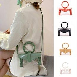 $enCountryForm.capitalKeyWord Australia - KKMHan Brand Woman 2019 Summer Transparent Bag Retro Ring Handbag New Shoulder Messenger Bag Dropshipping borse da donna bolsas