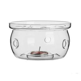 Heat Resistant Glass Tea Warmer Hand Blown High Borosilicate Glass Teapot Coffee Warmer Base Tea Accessories on Sale