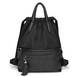 $enCountryForm.capitalKeyWord Australia - Angel2019 Oxford Tide Distribution Cowhide Both Shoulders Package Woman Personality Multipurpose Bucket Backpack Tassels Travelling Bag