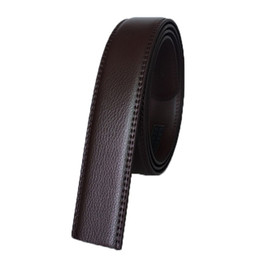 $enCountryForm.capitalKeyWord Canada - No Buckle Designer Mens Belts Body 3.5cm Wide Cowskin Split Leather High Quality Men Automatic Belt Body Cinturon hombre