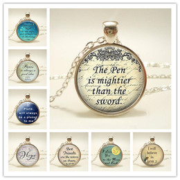 $enCountryForm.capitalKeyWord Australia - Second Star To The Right Pendant, Peter Pan Quote Jewelry, Literary Quote Necklace, Handmade Glass Silver Chain Necklace