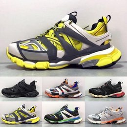 spring tracking Australia - 2019 Paris Triple S Track 3.0 Grey Orange Yellow Men women Running Shoes Platform sports Sneakers Tess S. Gomma Trek Mens Trainers