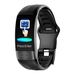 kids bracelets watch UK - P11 Smart Bracelet Sport Smart Watch Men Women Smartwatch ECG Bluetooth Wristband Heart Rate Monitor Call Message Reminder
