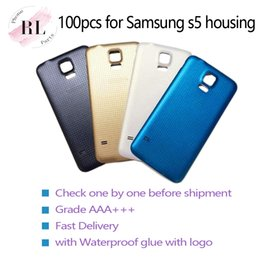 Cover Case battery s5 online shopping - 100pcs Replacement Battery plastic Housing back Cover Case For Samsung Galaxy S5 G900F G900A G900T G900V with Waterproof glue with logo