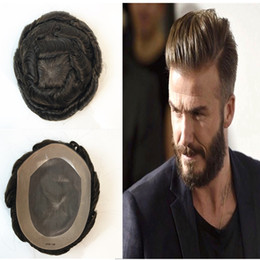$enCountryForm.capitalKeyWord NZ - Mono Lace Human Hair Toupee Fine Mono With Npu Mens Toupee Replacement System Men Hair 100% Indian Brown Human Hair Light Wave Hairpiece