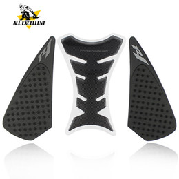 $enCountryForm.capitalKeyWord Australia - Motorcycle Decals fuel tank anti-slip stickers & Fish bone sticker silicone material For Yamaha R1 2004-2006 2007-2008 09-14 15