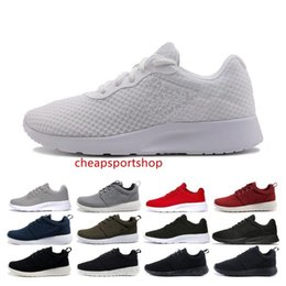 black white men shoes cheap Australia - Cheap Tanjun run running shoes for men women black white red navy blue Lightweight Breathable mens trainer London Olympic Sports Sneakers