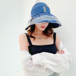 Женщины широкие поля козырек шляпы мода Леди пустой топ камуфляж Sun Hat открытый путешествия пляж дискеты солнцезащитные шапки LJJT671