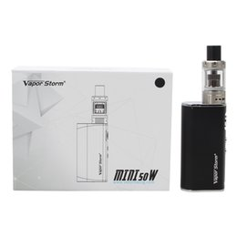 e mod tank Australia - Vapor Storm Mini 50W E Cigarette Vape Starter Kit 10-50W Wattage Box Mod 2200mAh Battery Built-in 2ml 0.5ohm V Tank Atomizer Ecig
