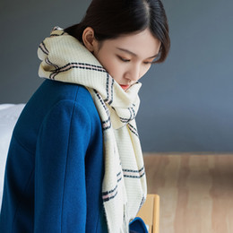 purple plaid scarf Australia - 2019 autumn and winter new imitation cashmere plaid scarf women's medium-length warm flow Su scarf Japanese and Korean sweet shawl woman