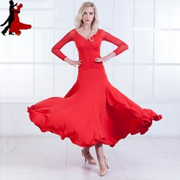 long hot dress dance Australia - new sexy fashion waltz long sleeve dress modern ballroom national standard dance clothing women freeshipping hot sale