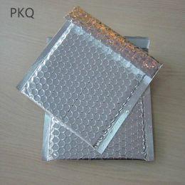 aluminum flat stock 2019 - 100pcs 11*13cm Small Silver aluminum Padded Shipping Bags Envelope CD DVD Bubble Mailer Aluminum Foil Gift Packing bag c