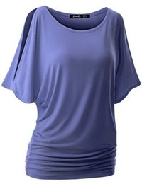 6bec57309868af Summer Women Top Sexy O-neck With 10 Color Batwing Dolman Sleeves Female  Cotton T Shirt S-5XL Size Lady Wear