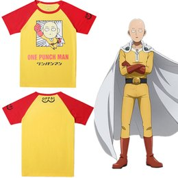 halloween movie t shirts NZ - 2020 Unisex Japan Anime Saitama ONE PUNCH-MAN Cosplay Costume Shirt Short Sleeve T-shirt Tee ( Asian Size )