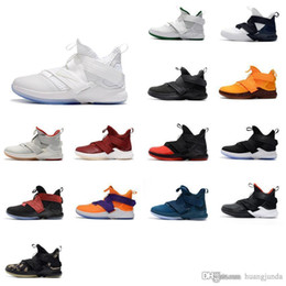 f8817b9d5d6cc Cheap Mens lebron soldier 12 shoes Yellow Purple Team Red Blue Black White  Grey youth kids boys sneakers with box