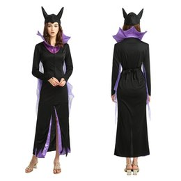 christmas costumes adult women NZ - Adults Women Witch Cosplay Costumes 871 Demon Dress for Female Christmas Halloween Masquerade Party Dress Decoration