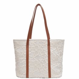 $enCountryForm.capitalKeyWord Australia - 2019 Fashion Folding Women Big Size Handbag Tote Ladies Casual Lace four-leaf clover Shoulder Bag Beach Bolsa Feminina