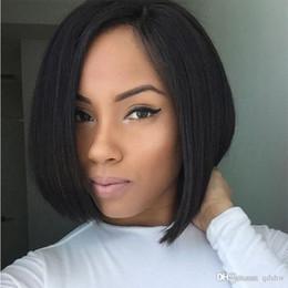 U Part Human Hair Short Bob Australia - Pre Plucked Hairline Upart Wigs For Black Women Side Part Virgin Peruvian Human Hair Glueless Short u Part Bob Wigs With Baby Hair