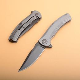 Kershaw Assisted Opening Knife Australia - Kershaw 3490 Assisted Open Flipper Folding Knife 8Cr13Mov Grey Titanium Coated Blade T6061 Handle EDC Knives