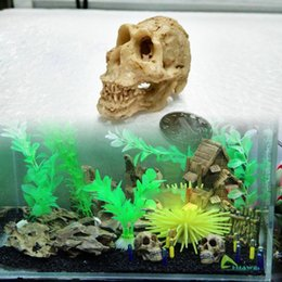 $enCountryForm.capitalKeyWord NZ - Simulation Statue Landscape Ornament Reptile Cave Artifical Rhino Sheepshead Resin Skull Aquarium Terrarium Decoration Fish Tank