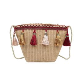 $enCountryForm.capitalKeyWord UK - New Women Straw Bags Messenger Shoulder Crossbody Handmade Bag For Lady Tote Satchel Mini Handbag Pretty Tassel Vintage