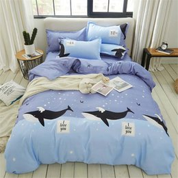 Dolphin suits online shopping - Classical bedding set with dolphin Duvet Cover Set Single Double King Size animals series of Bedding Cover Suit