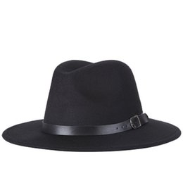 Men Fashion Sun NZ - Fedoras Wide Brim Jazz Hats for Women Men Outdoor Caps Fashion Summer Spring Black Imitation Wool Blend Cap Casual Sun Hat Cheap Wholesale